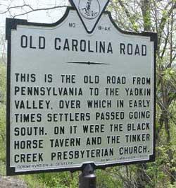Carolina Road Historical Marker
