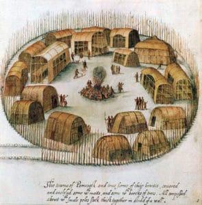 algonquin indian village wigwams