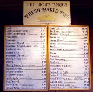 More than 35 pies were available at the Hill High Country Store in Round Hill VA