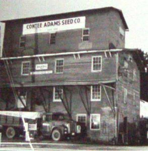 Purcellville Contee Adams seed mill in the 1940s (Now Magnolias at the Mill restaurant)