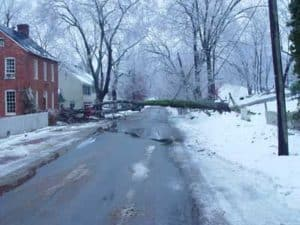 Tree down in Waterford Virginia 2003