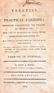 Cover of John Binn's book, A Treatise on Practical Farming