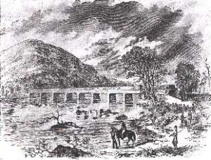 Early in the war General Thomas J. Jackson's Confederate troops burned Potomac bridges, including this one at Harper's Ferry.