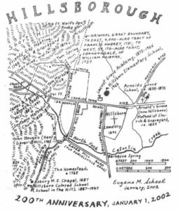 Map of Hillsboro Virginia by Eugene Scheel