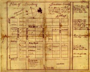 Historic 1759 map of Leesburg VA