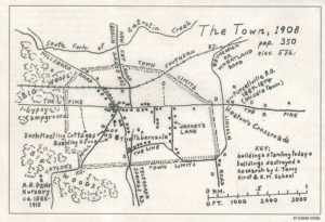 1908 map of Purcellville, VA