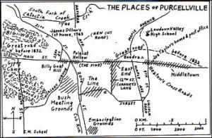Purcellville existed in the early 1800s and because it had no street signs then, nicknames were used.