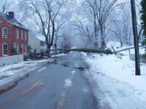 Tree down in Waterford Virginia 2003